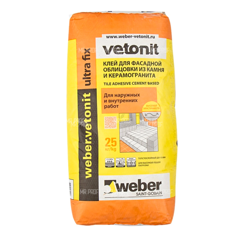 Клей Weber Vetonit Ultra Fix 25 кг
